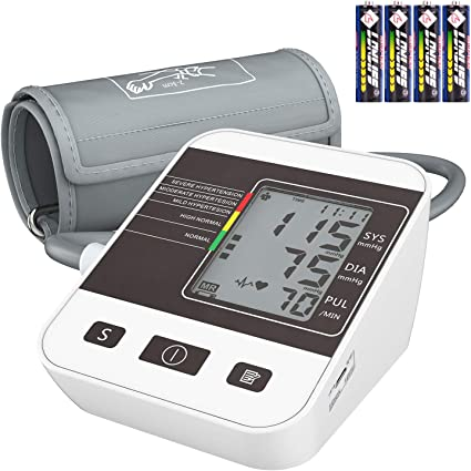 Blood Pressure Monitor for Home Use with Large LCD Display,Annsky Digital Upper Arm Automatic Measure Blood Pressure and Heart Rate Pulse,2 Sets of ...