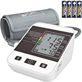 Blood Pressure Monitor,Home Use Digital Upper Arm Automatic Measure Blood Pressure and Heart Rate Pulse with Large Cuff,2 x 99 Memories(Battery Included)