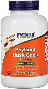 Psyllium Husk with 50 mg of Apple Pectin Intestinal Health Digestive Non GMO 700 mg 180 Veg Capsules