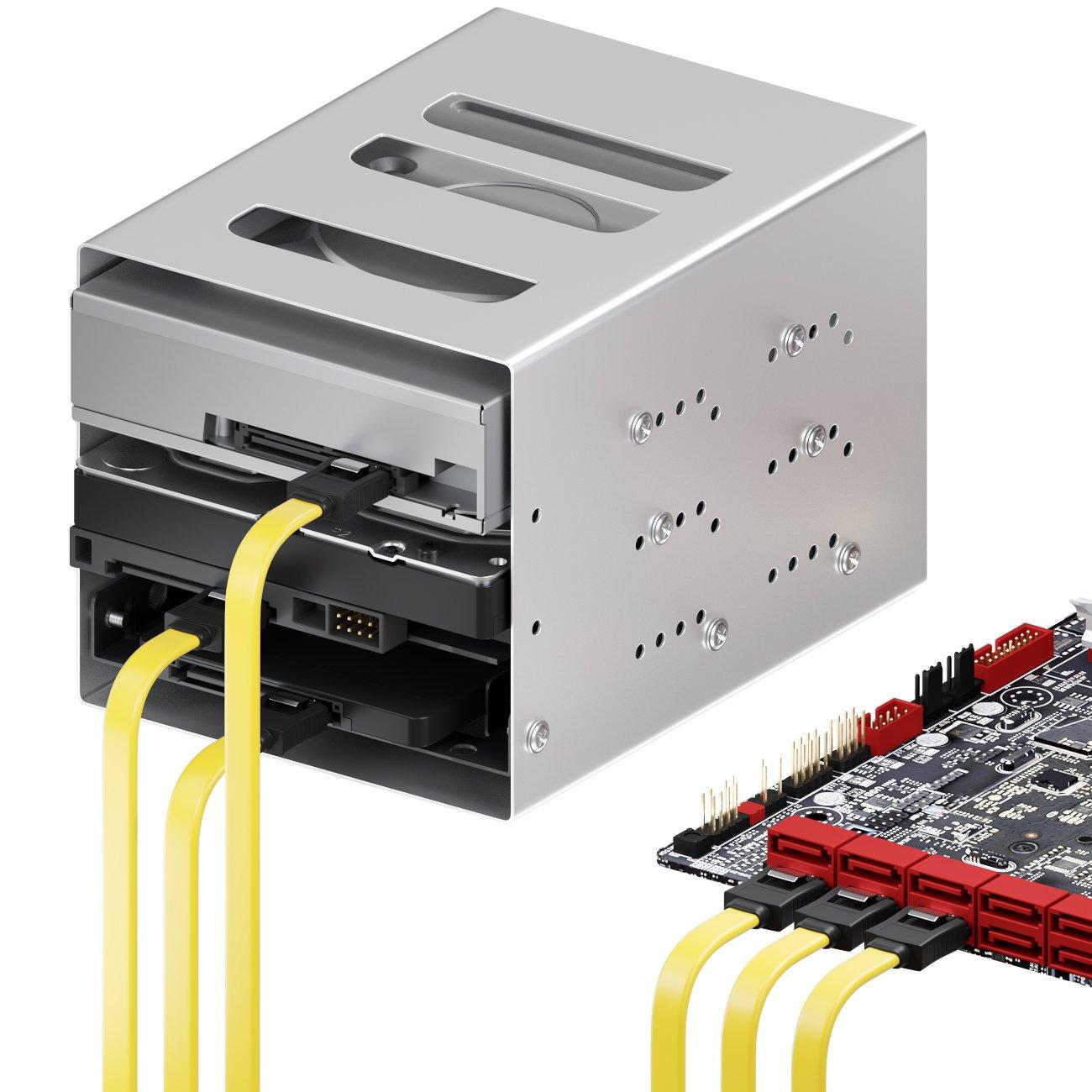 SSD HDD Disque Dur C/âble Adaptateur D/'Alimentation deleyCON MK2944 Lot de c/âbles SATA 4X C/âbles SATA III avec Prises Droites