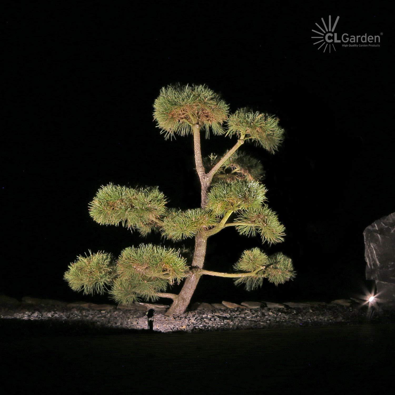 3 CLGarden Gartenstrahler Metall warmwei/ß//schwarz
