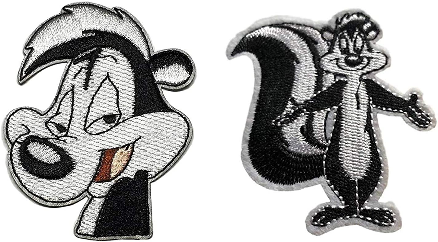 Looney Tunes Pepe Le Pew Character 2 3//4 Tall Iron On Patch