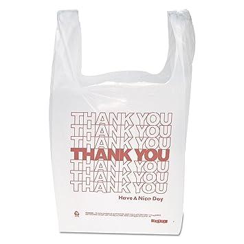 Gracias mango bolsas de camiseta, 11 1,5 x 21, polietileno ...