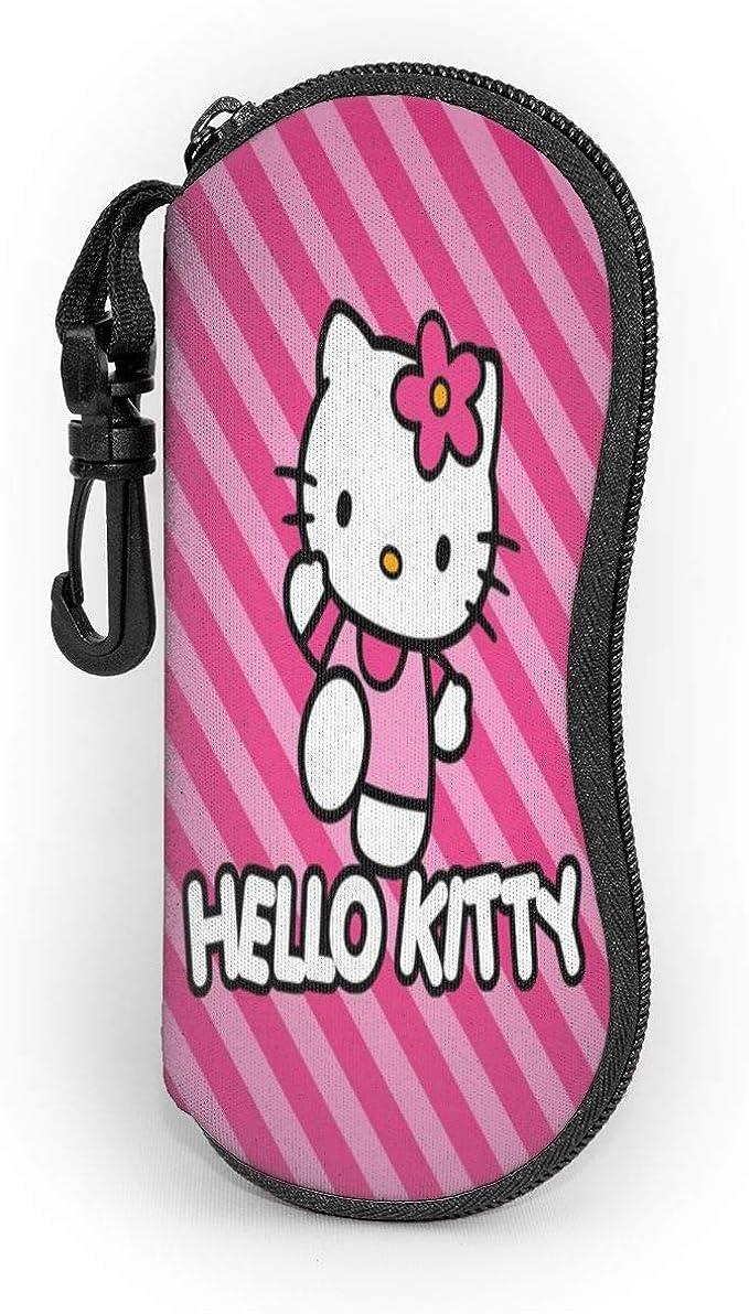 Estuche para gafas de sol con diseño de Hello Kitty, portátil, con cremallera, para viajes, con diseño de Hello Kitty: Amazon.es: Ropa y accesorios
