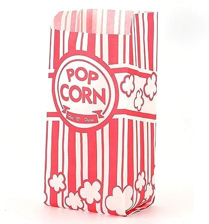 Tebery Bolsas de papel para las palomitas de maíz de 3.5