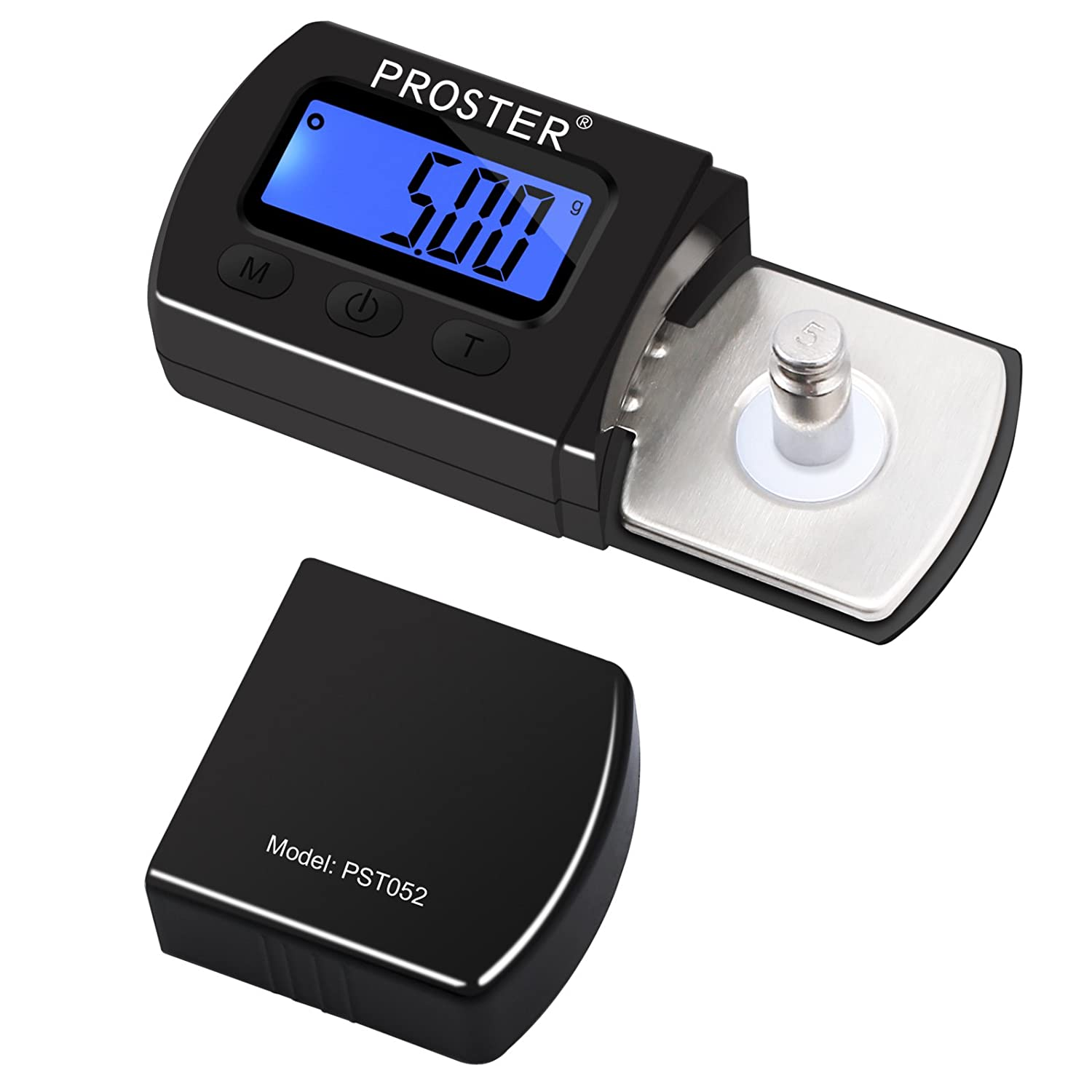 Proster Turntable Stylus Force Scale Gauge 0.01g LP Stylus Gauge LCD Backlight Tonearm Phono Cartridge Brilliant Black Proster Trading Limited