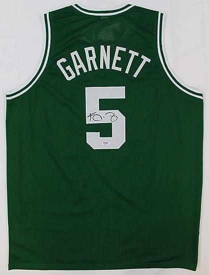 best cheap 31502 943a1 Kevin Garnett Autographed Green Celtics Jersey - Hand Signed ...