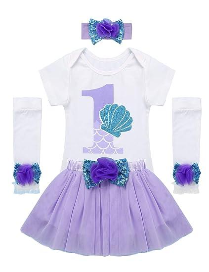 CHICTRY Vestido de Fiesta para Bebé Niña Conjunto Pelele Body ...