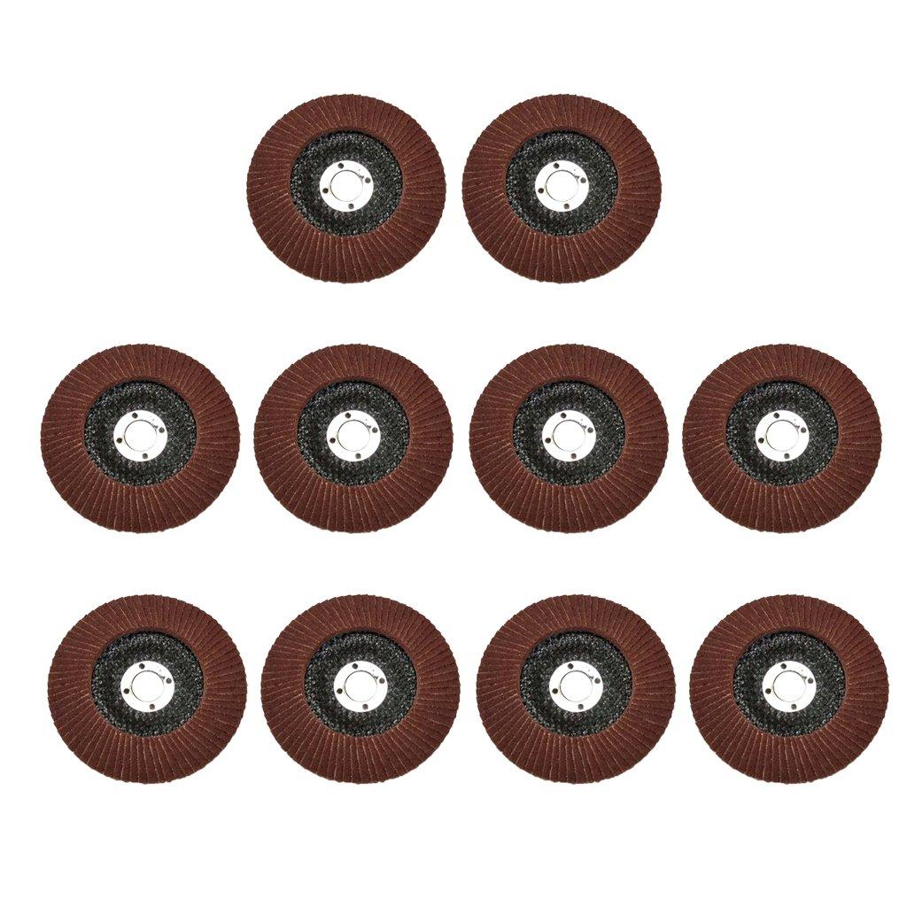 MagiDeal 10 Pieces 100mm*16mm Zirconia Flap Disc Sanding Grinding Wheel
