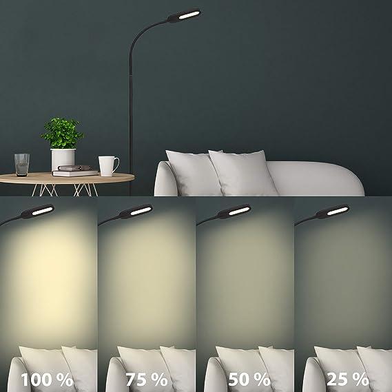 Briloner Leuchten LED, lámpara de pie Regulable, Control de ...