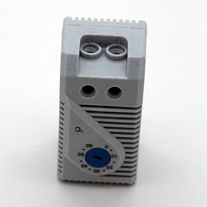 Generic KTS011 pequeño compacto Termostato regulable, 0 – 60 Grado controlador de temperatura
