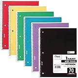 Mead Cadernos espirais, 1 assunto, papel pautado largo, 70 folhas, livros coloridos, papel pautado, material escolar para est
