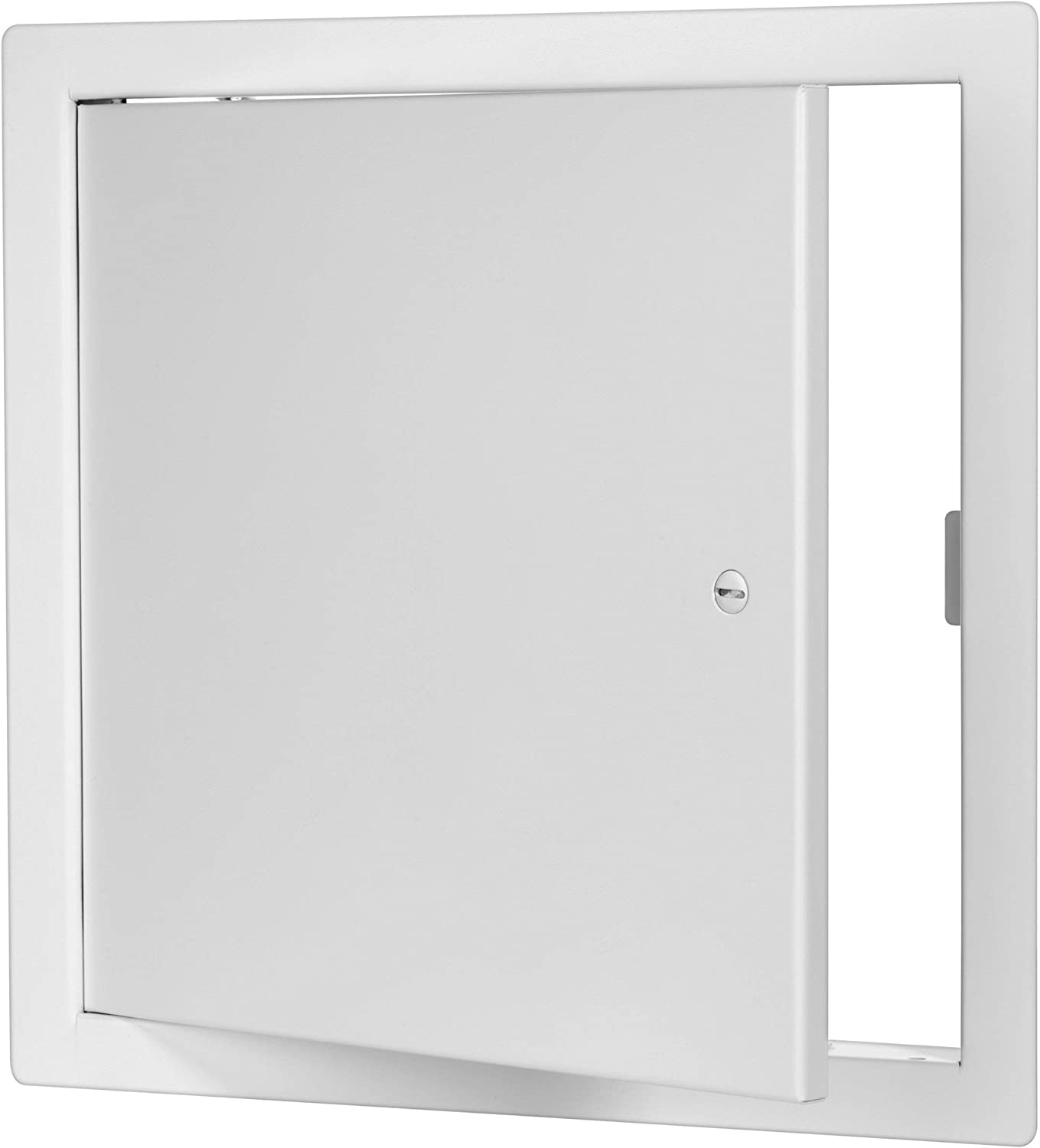 Premier 2002 Series Steel Access Door, 14 x 14 Flush Universal Mount, White (Screwdriver Latch)