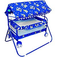 A AND PRODUCTS Chrome Coated Baby's Cradle (Blue)