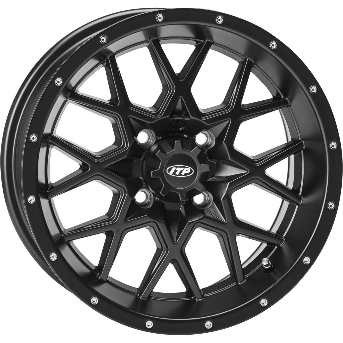 ITP 16-18 Yamaha YXZ1000R Hurricane Wheel Front // 16x7 5+2 4//110 Matte Black