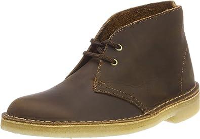 Clarks Originals Homme Nouveau Désert Trek Chaussures en Cuir Cire d/'abeille marron