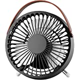 OMORC Mini USB Desk Fan, Super Quiet Portable Table Cooling Fan for Office, Home, Study 5.5-inch, Black