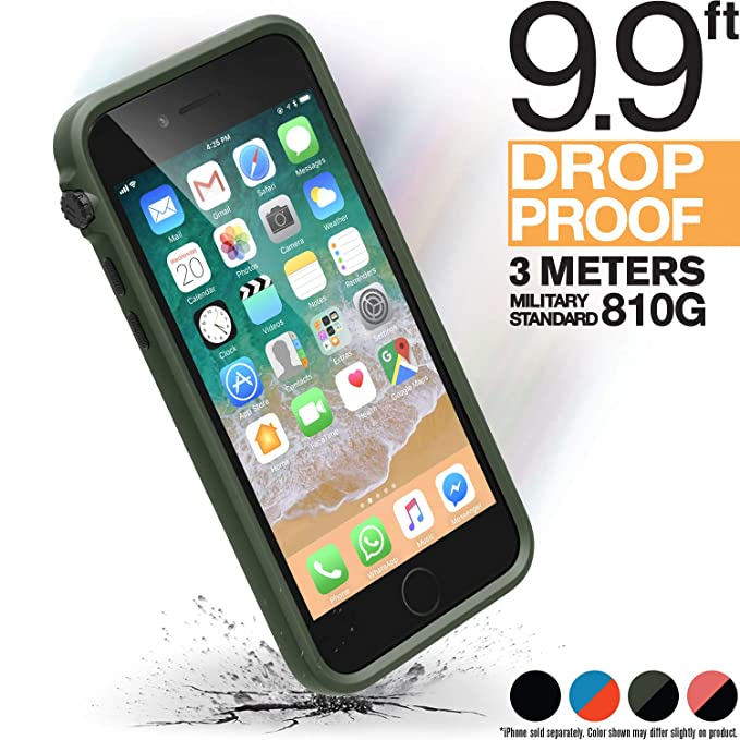739645e295207 iPhone 8 Case Shock Proof Impact Protection by Catalyst, with Wrist Strap  Lanyard Rugged Apple Phone case [iPhone 7 Compatible], Wireless Charging,  ...