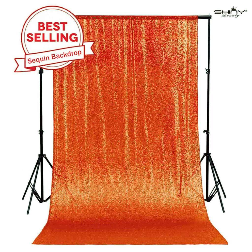 PHOTOBOOTH Backdrop Best Choice 4FTx7FT Orange Sequin backdrops, Wedding backdrops, Party Decoration, Sequin Curtains, Sequin Photo Booth Backdrop by ShinyBeauty