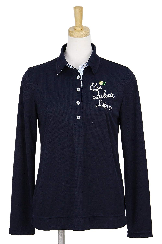 ポロシャツ レディース アダバット adabat 2019 春夏 ゴルフウェア 644-16521 LL(42) ネイビー(093) B07R4SH8GR
