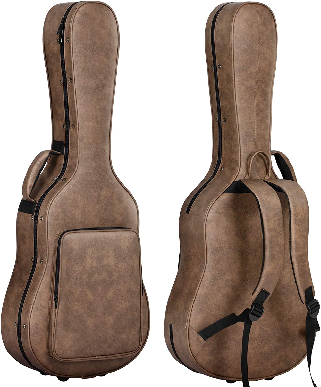 CAHAYA Estuche Guitarra Clasica Acolchada de 20mm Impermeable Fácil de Limpiar Funda Rigida para Guitarra Clasica Acustica Española 40 41 Pulgadas