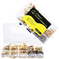 280 Piece Picture Hanging Kit, Assorted Picture Hangers with Nails, Hooks, Hanging Wire, Sawtooth Hangers, D Ring, Screw…