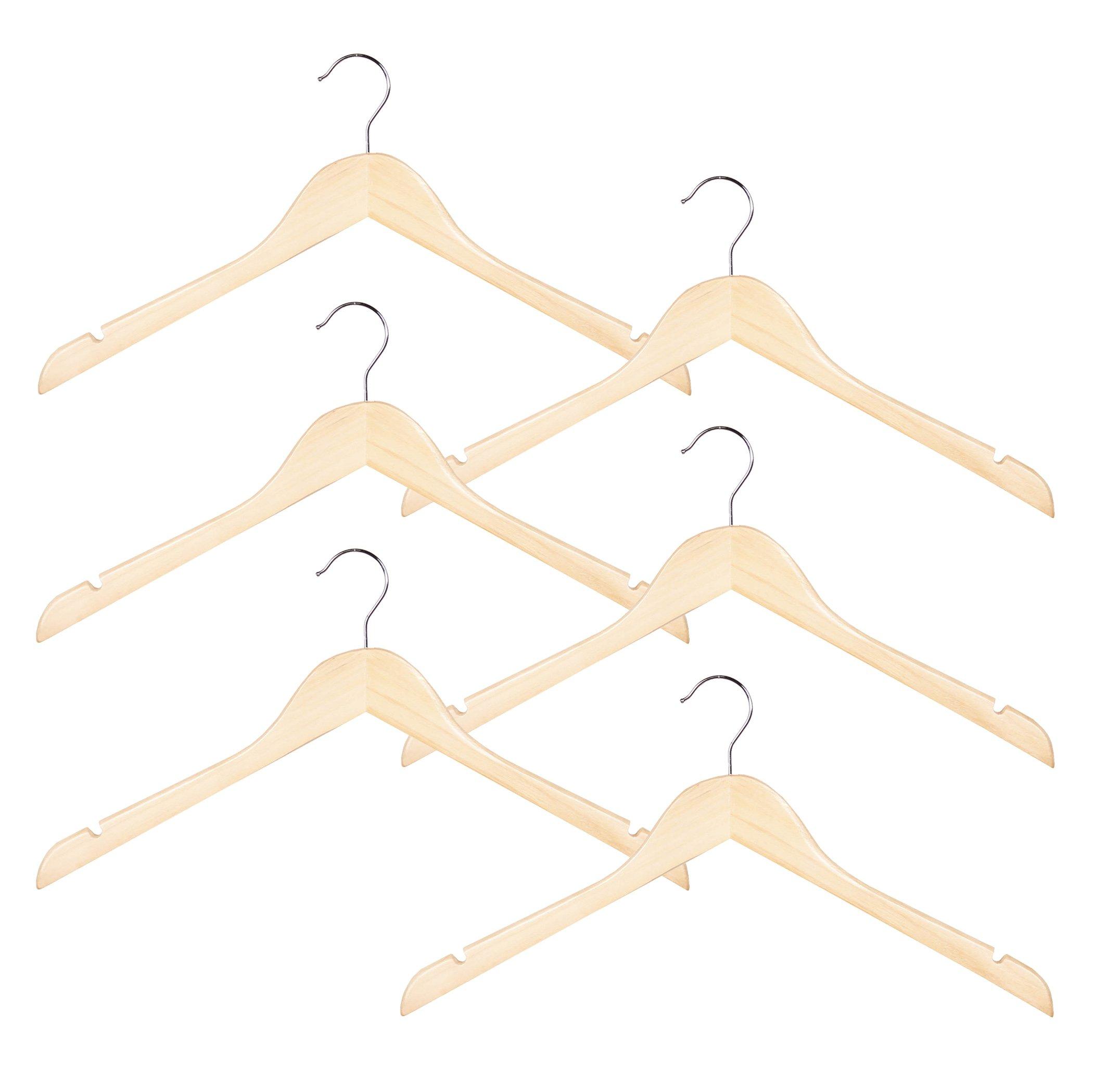 Richards Homewares Imperial/Juvenile Shirt/Coat Hanger Set/6 Wood Children's (Set of 6)