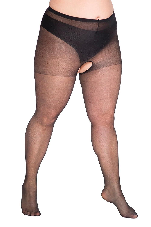 LIDA Plus Size Crotchless Tights Lida Hosiery
