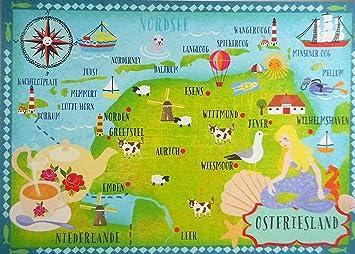 Nordsee Friesland Postkarte 15 Cm Karte Sammelkarte Ansichtskarte