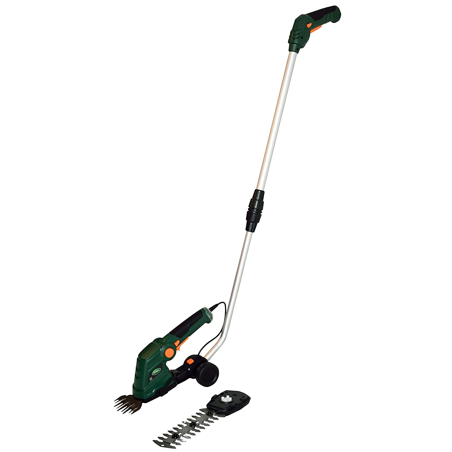 Scotts Outdoor Power Tools LSS10272PS 7.5-Volt Lithium-Ion Cordless Grass Shear/Shrub Trimmer with Wheeled Extension Handle, Green