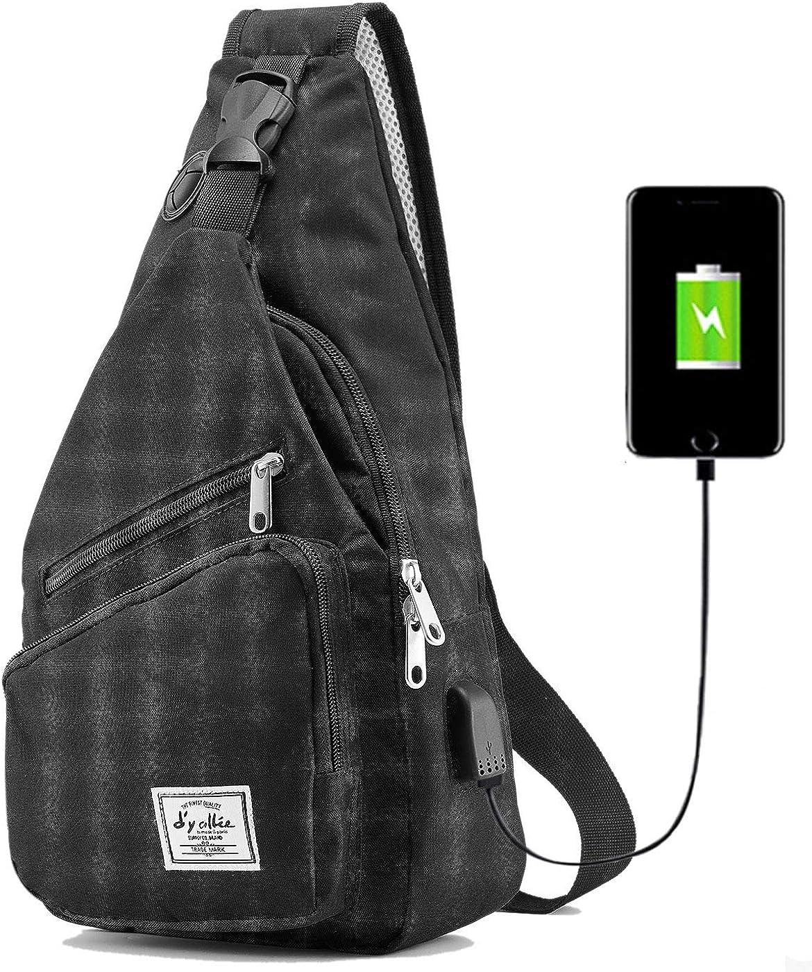 Mens Bags Sport Travel Hiking Gym Cross Body Messenger Shoulder Sling Chest Pack