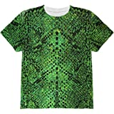 5a93c85b9bc9ad Animal World Halloween Green Snake Snakeskin Costume All Over Youth T Shirt