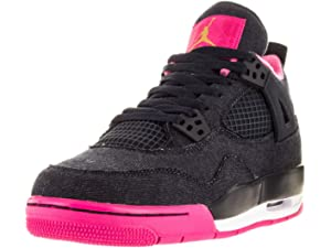 info for bdeae 2ab2d Nike Girls Air Jordan 4 Retro GG Basketball Shoes Dark Obsidian 487724-408  (6.5