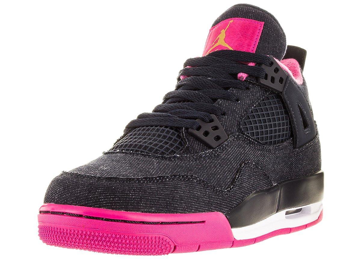 check out 9b860 8c776 Amazon.com   NIKE Girls Air Jordan 4 Retro GG Basketball Shoes Dark  Obsidian 487724-408 (7Y)   Basketball