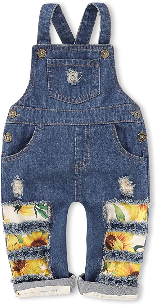 Saeaby Toddler Kids Baby Clothes Girls Jeans Jumpsuit Romper Denim Overalls Jeans Girls Clothes Outfits