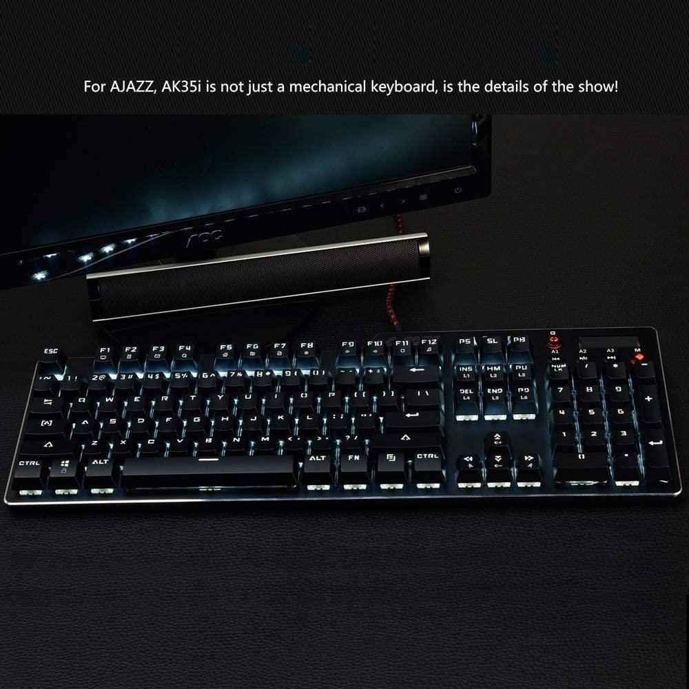 Plug and Play for Laptop Ysswjzz USB Keyboard Wired PC Color : Color2 Comfortable /& Durable Full Size Keyboard with 110 Keys Quick Responsive Computer Windows Mac etc
