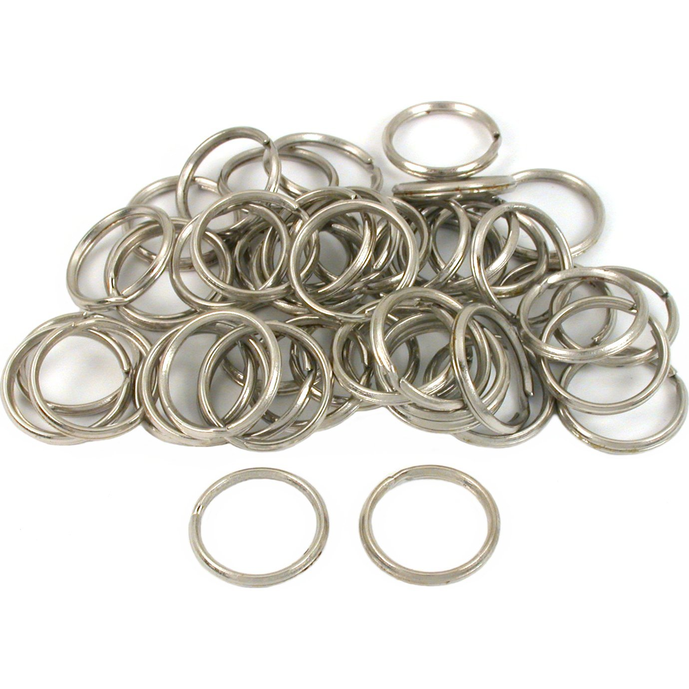 500 Pieces 6 mm Double Loop Jump Rings Round Small Key Chain Rings Connector for DIY Jewelry Making Findings Silver Aylifu Metal Split Rings