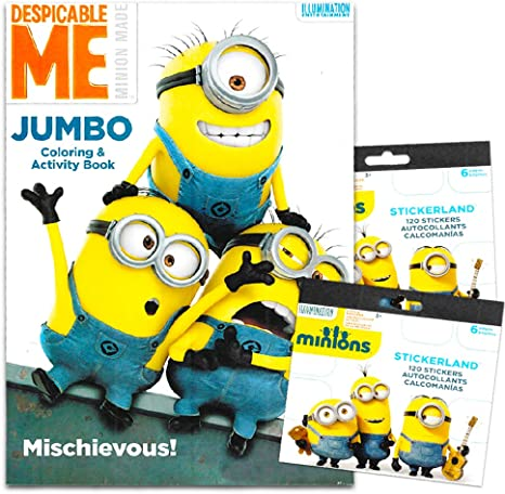 - Amazon.com: Despicable Me Minions Coloring Book With Stickers ~ Over 200  Minions Stickers!: Toys & Games