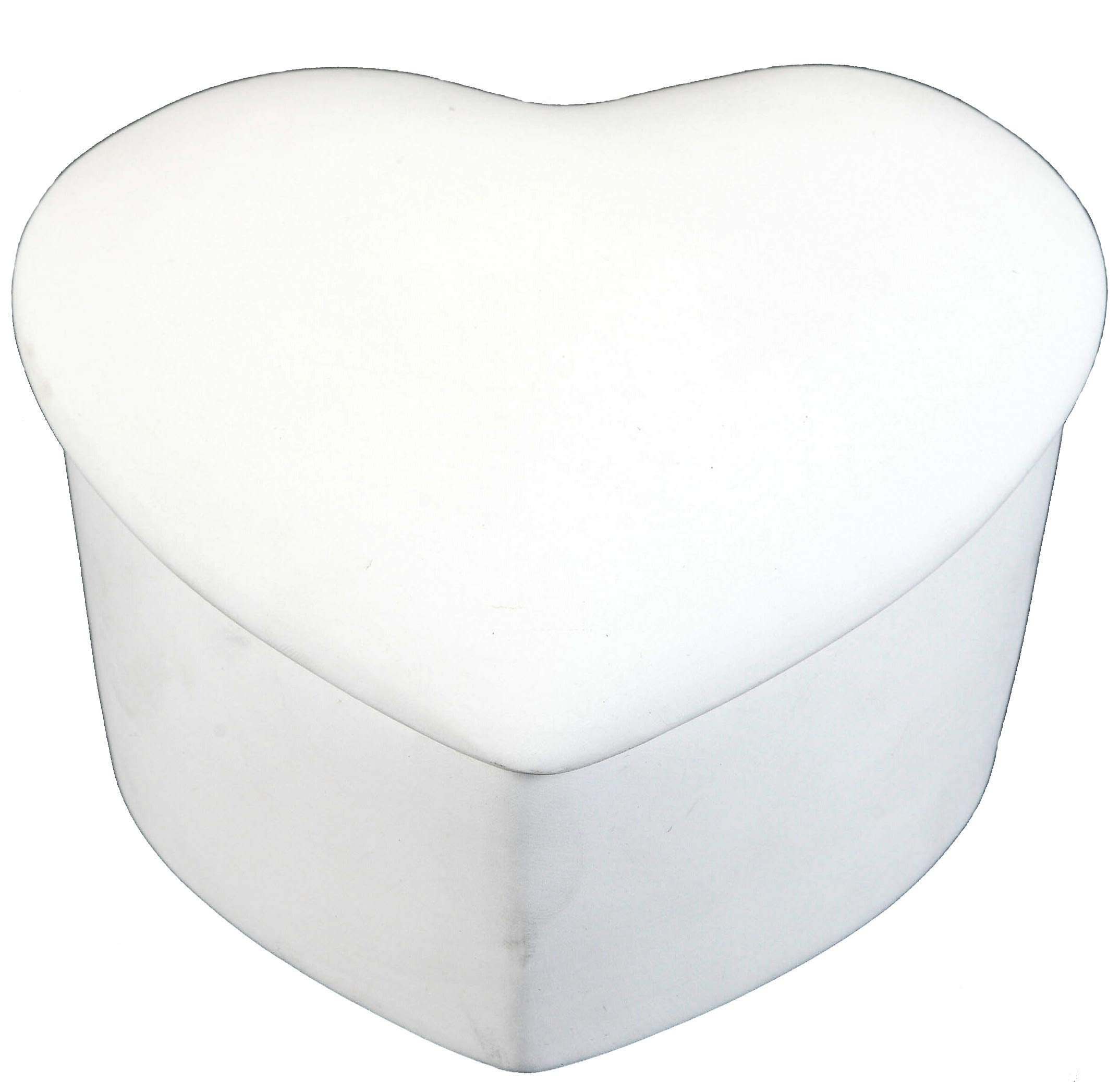 Creative Hobbies Slant Heart Box, Case of 6, Unfinished Ceramic Bisque, with How to Paint Your Own Pottery Booklet