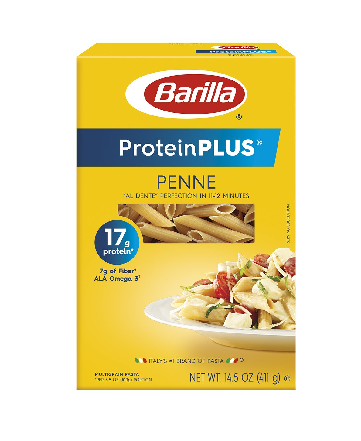 Barilla ProteinPlus Multigrain Pasta, Penne, 14.5 Ounce (Pack of 8)