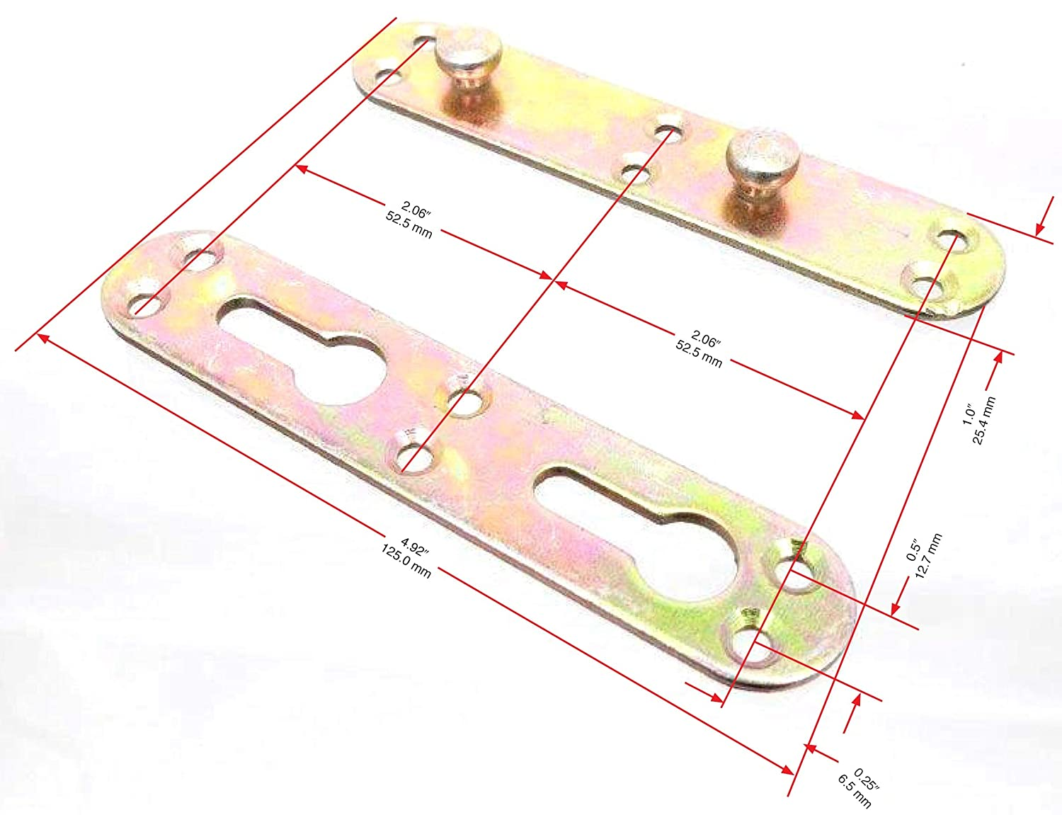 Bed Rail Brackets Tech Team Full Mortise Bed Frame Connector Set 8 Pieces Hardware Included