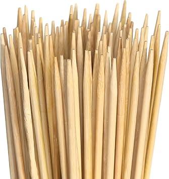 Pinchos de malvavisco de bambú Pinchos de barbacoa XXL extra largos. Ideal para barbacoas