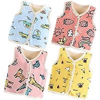 XM-Amigo Chaleco grueso para bebés y niñas, con hombros superiores, para invierno, otoño, abrigo, chaleco grueso (0-6…