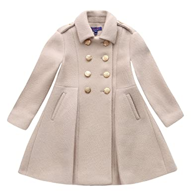 919f032d0c2d8 London Kiddy Wool Military Girl s Coat Cream Ivory 2-3 Years  Amazon ...