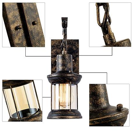 Retro Pared De Metal Apliques Lampara Rustica Lámpara Vintage 3qL54ARj