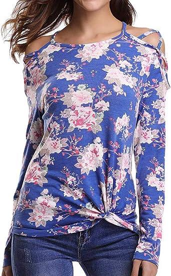 Ronamick Camisetas Cuello Alto Mujer Moda Mujer Blusa Roja Mujer Fiesta Tops Mujer Fiesta Sexy Moda Mujer Camisa Nochevieja Mujer (Azul,S): Amazon.es: Hogar