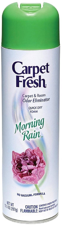 Carpet Fresh No Vacuum Foam Carpet Refresher, Morning Rain 10.50 oz (Pack of 10)