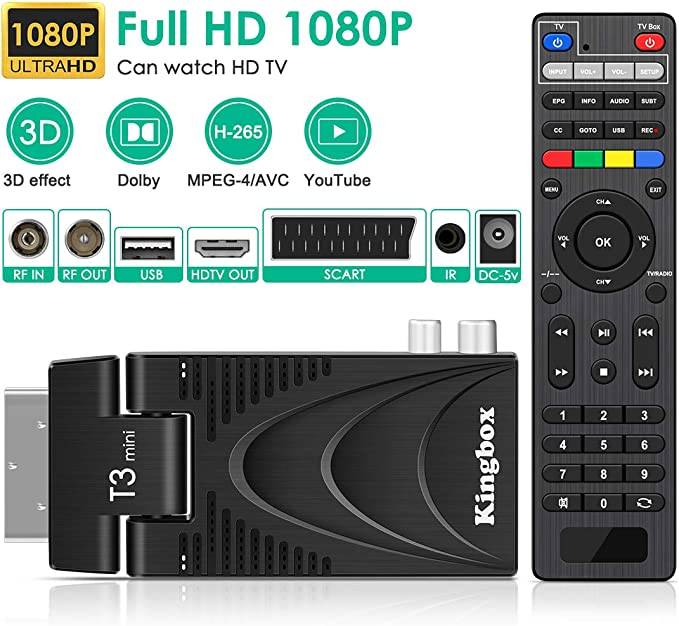 Kingbox Dvb T2 Receiver Dvb T2 Decoder 4k Tv Box Elektronik