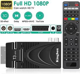 Superpow T3 Decodificador TNT, Receptor DVB-T2 Pro HD DVB-T ...