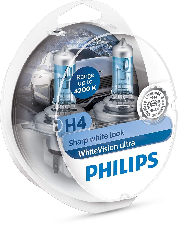 Doppelset Philips 12972WVUSM WhiteVision ultra Xenon-Effekt H7 Scheinwerferlampe 4.200K Anzahl 2